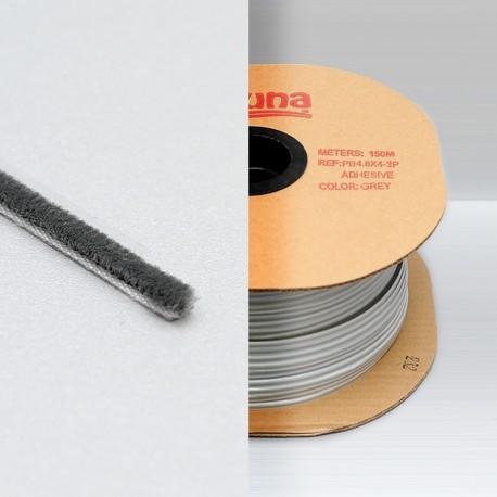 kartáček nízký 4,8 x 4,0 mm k nalepení šedý LAGUNA