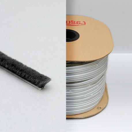 kartáček vysoký 6,7 x 12,0 mm k nalepení šedý LAGUNA